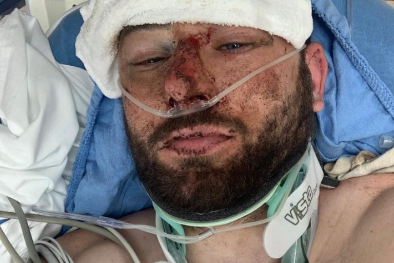 Josh Quigley in hospital (via Twitter).PNG