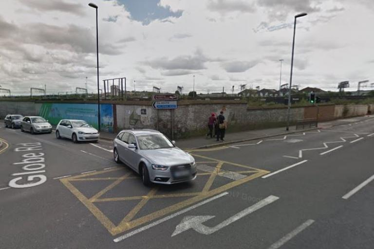 Junction of Whitehall Road and Globe Road in Leeds (via Google Street View).JPG