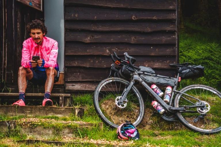 Lachlan Morton bikepacking (picture credit Slipstream Sports)