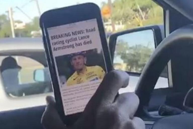 Lance Armstrong denies he is dead (source Instagram).JPG