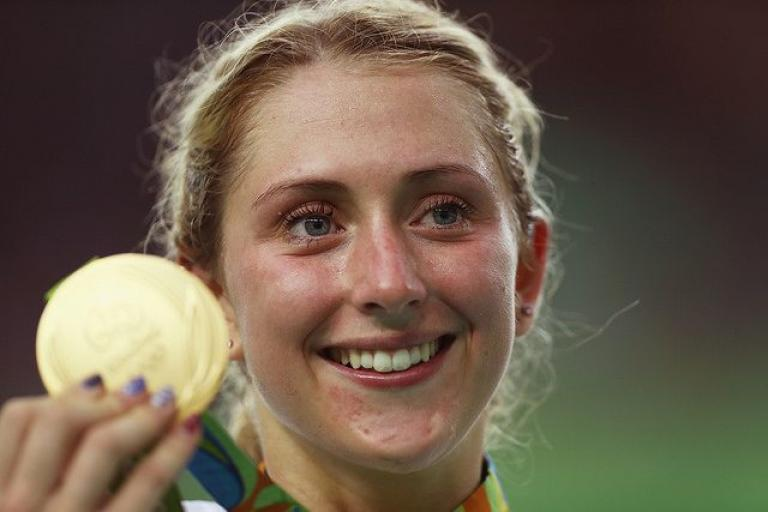 Laura Kenny with Rio Omnium gold (Photo by Bryn Lennon, Getty Images via Britishcycling.org_.uk).jpg