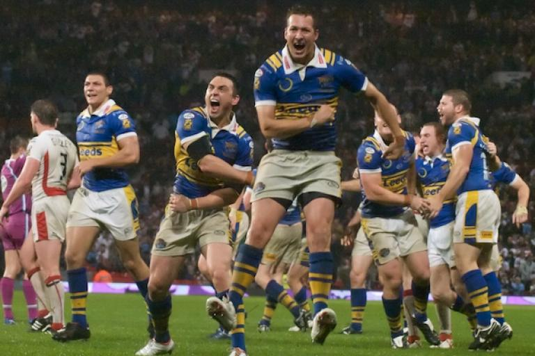 Leeds win the 2008 Super League Grand Final (picture copyright Simon MacMichael)