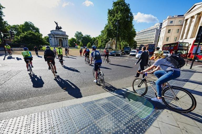 London cyclists at Hyde Park Corner (copyright Britishcycling.org_.uk).jpg
