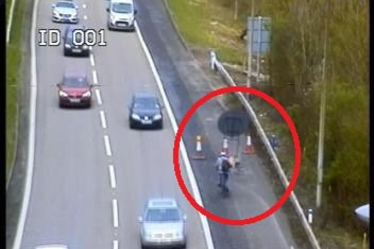 M25 cyclist