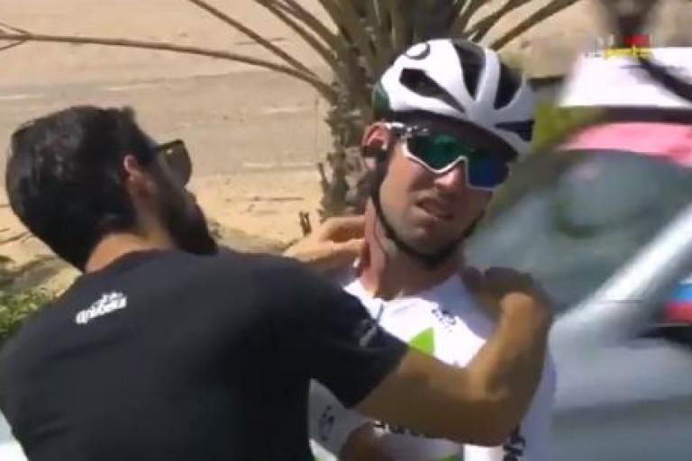 Mark Cavendish abandons Abu Dhabi Tour.JPG