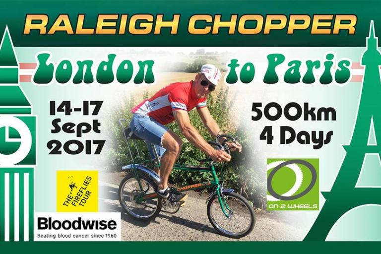 Man who set Raleigh Chopper Hour Record to ride one from London to