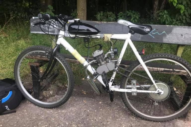 Motorised bike (via Leicester South Police)