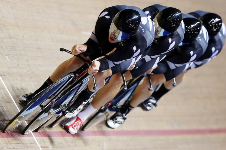 New Zealand in 2013-14 Track Cycling World Cup at Manchester (picture Vaughn Ridley, SWPix.com)