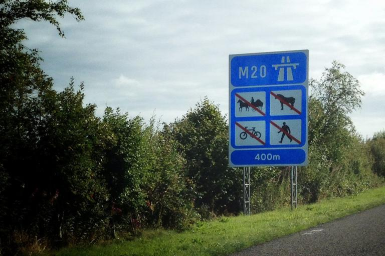 No cycling on the motorway - image from Flickr via Bine Rodenberger.jpg