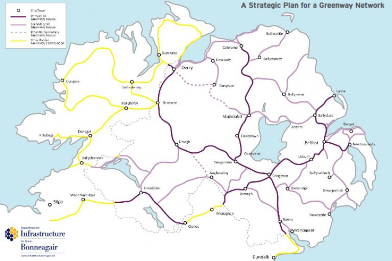 Northern Ireland planned Greenway network.PNG