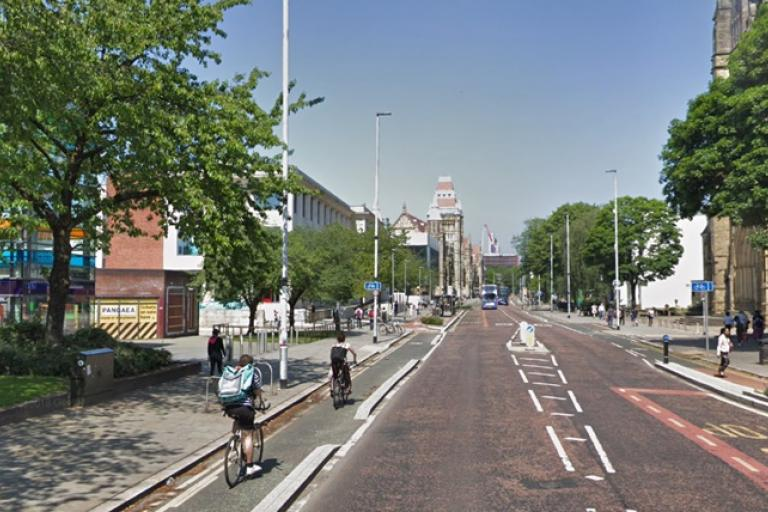 Oxford Road, Manchester (via StreetView)