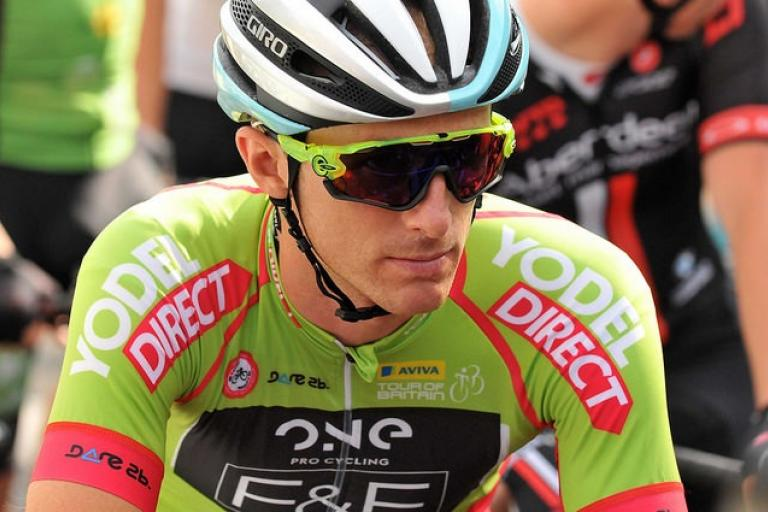 Pete WIlliams of ONE Pro Cycling in sprints jersey at 2015 Tour of Britain (picture copyright SweetSpot).jpg