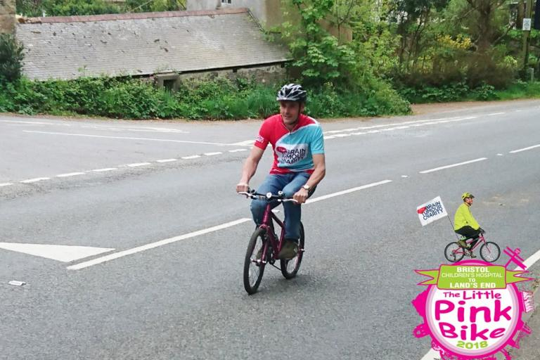 Peter Williams on The Little Pink Bike