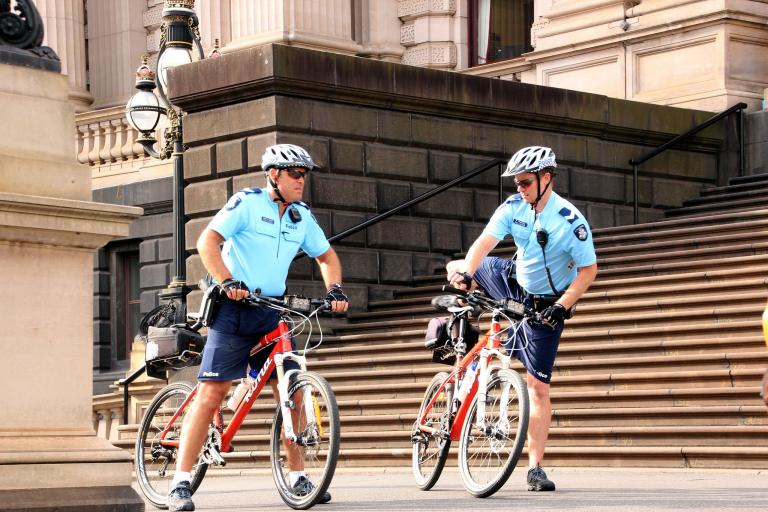 Police on bicycles - image via Flickr user Takver.jpg