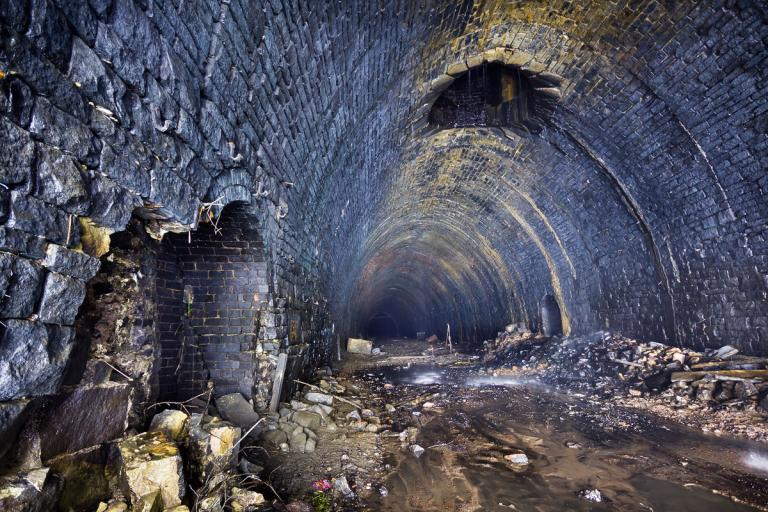 Queensbury Tunnel No 2 Shaft (picture credit Queensbury Tunnel Society)