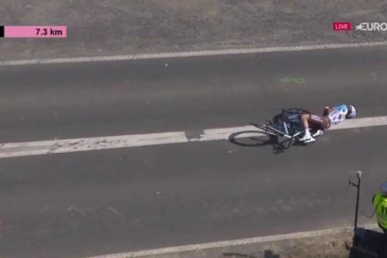 Quentin Jauregui Dunkirk crash (Eurosport still).JPG