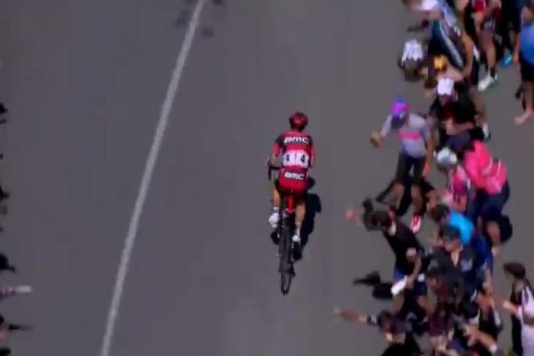 Richie Porte at Stage 5 of Tour Down Under 2016 YouTube still.JPG