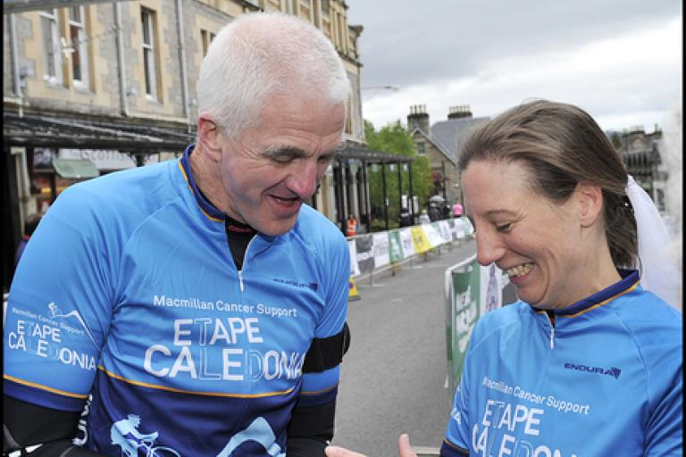 Rick and Jo Millin celebrate 8th wedding anniversary at 2019 Etape Caledonia