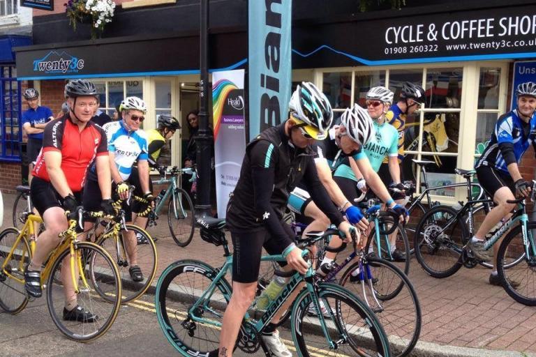 Riders gathering outside Twenty3c store (via Facebook).jpg
