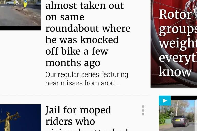 road.cc smartphone site screenshot