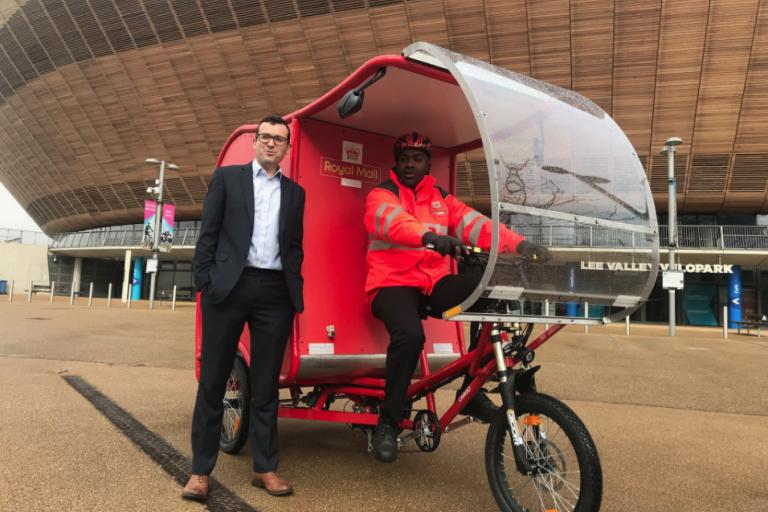 royal mail etrike, credit Will Norman on twitter