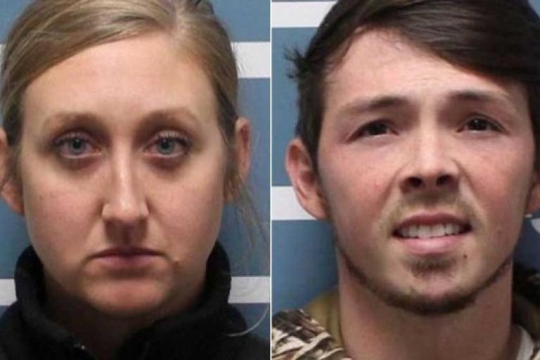 Savannah Grillot and Corey Curnutt (Visalia PD)