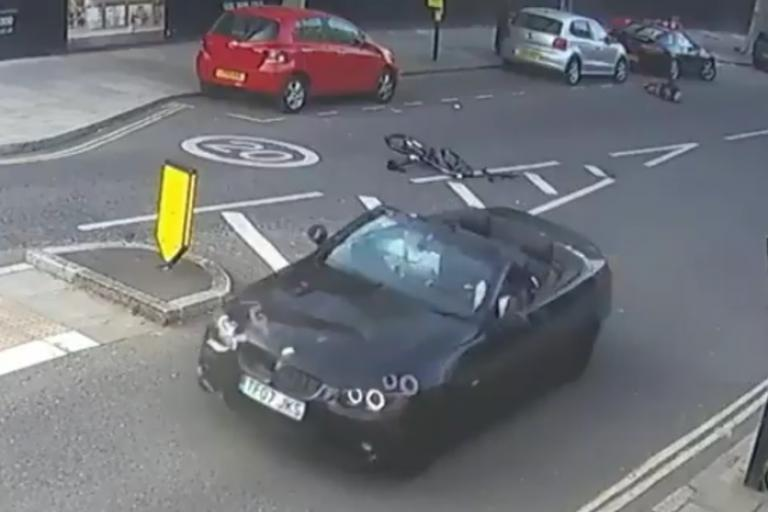 Screengrab from CCTV footage of hit and run (via ITV Twitter)
