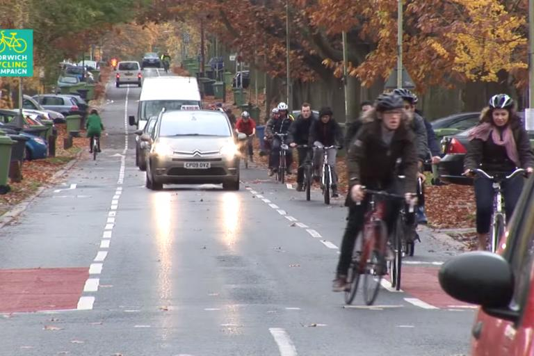Norwich Cycling Campaign the Avenues cycle route