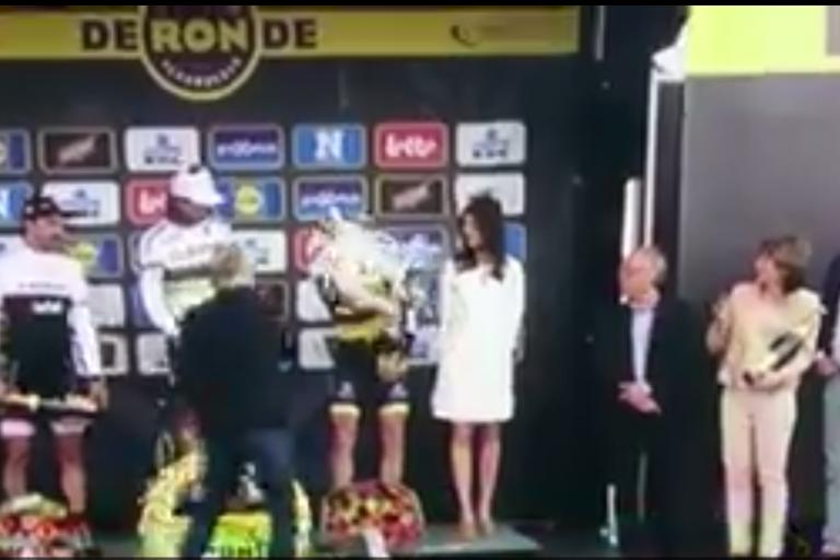 Corkgate at Tour of Flanders (still from Vine by H Tiemeijer)