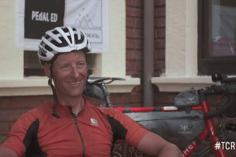 Kristof Allegaert (still from Transcontinental Race interview)