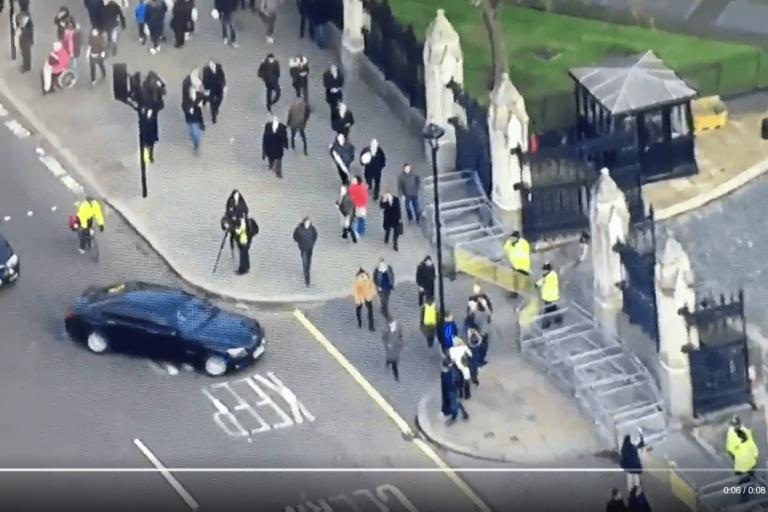 Ministerial car left hooks cyclist before Autumn Statement
