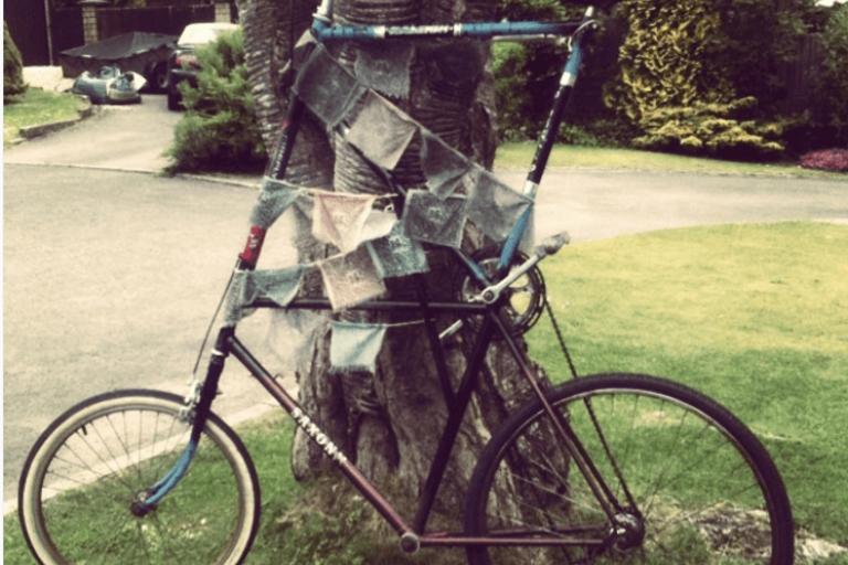 Pierre Covell's tall bike, Bristol