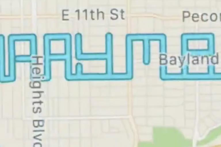 Marry me strava art