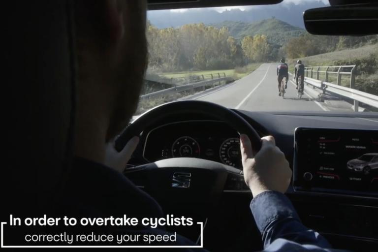 Seat Terraco cyclist detection vid still 2