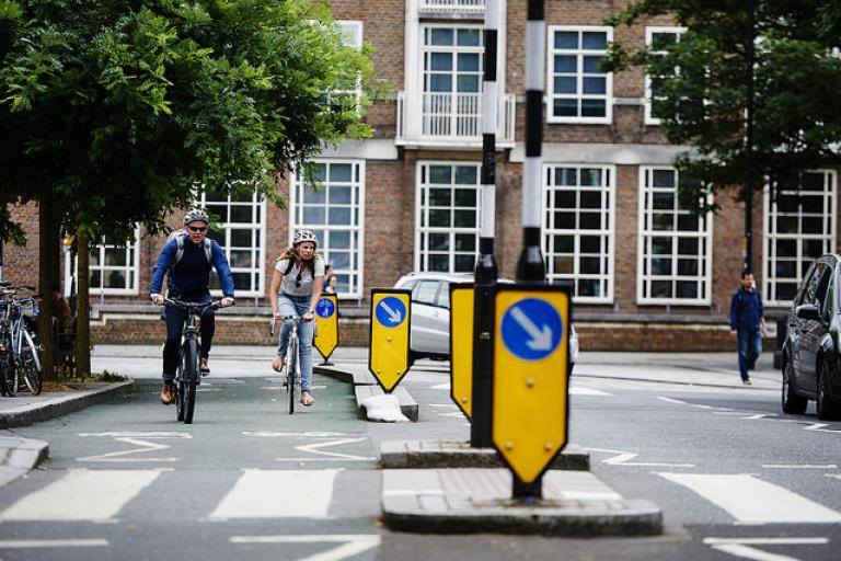 Segregated cycle lane in London (copyright Britishcycling.org_uk).jpg
