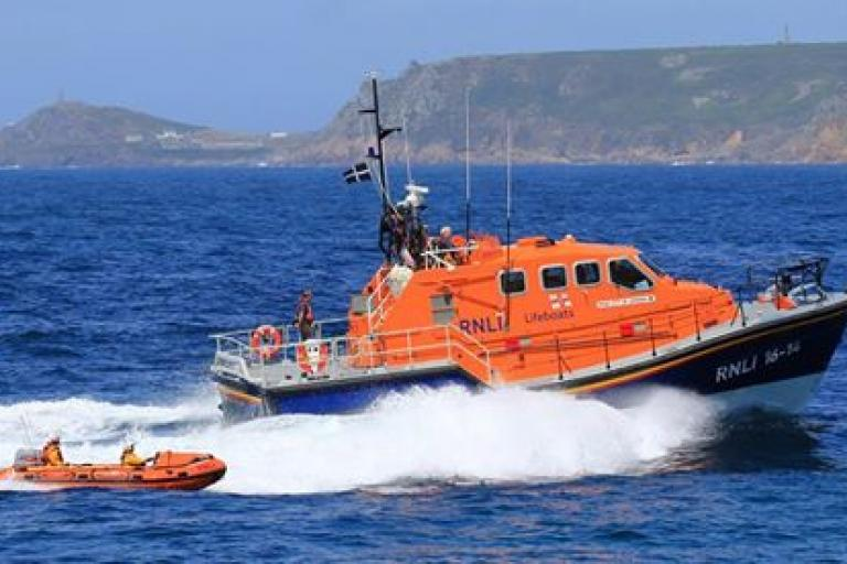 Sennen Cove Lifeboat RNLB City of London III (source Facebook).jpg