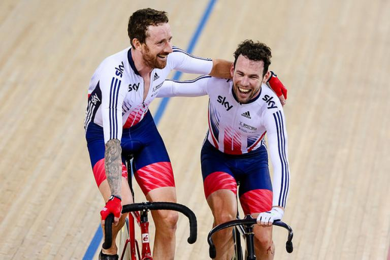 32dda2c2e Sir Bradley Wiggins and Mark Cavendish at Track Worlds 2016 (copyright  Charlie Forgham-Bailey