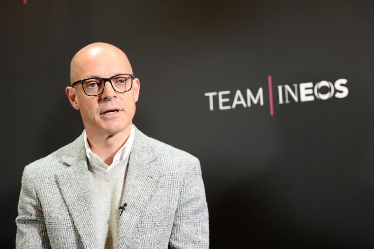 Sir Dave Brailsford at Team Ineos launch (picture credit SWPix.com (26)