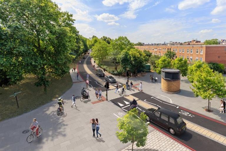 Stoke Newington Gyratory plans 1