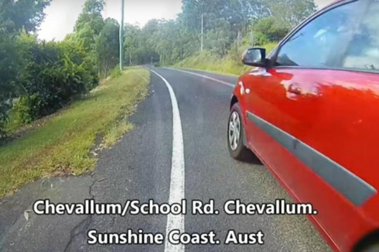 Sunshine Coast close pass (via YouTube)