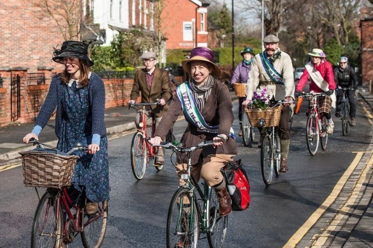 Sustrans North West's 2016 Suffragette Bike Ride in Chorlton (Livia Lazar-Sustrans).jpg