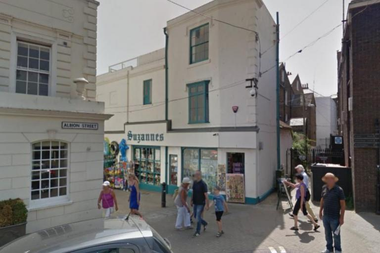 Suzannes Gift Shop in Braodstairs via Streetview