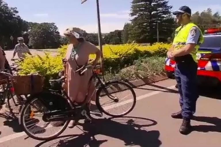 Sydney helmet protest ride (via Facebook video).jpg