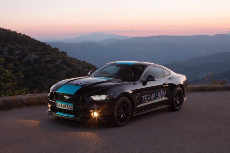 Team Sky Ford Mustang (picture via Team Sky on Twitter).jpg