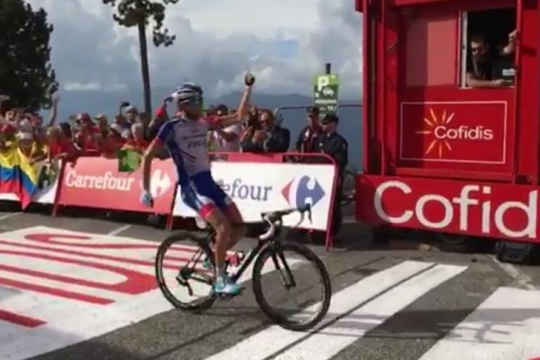 Thibaut Pinot (via Twitter video)