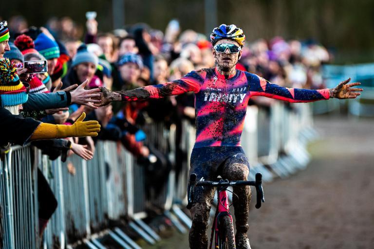 Tom Pidcock wins men's elite 2020 national cyclo-cross title (picture credit Alex Whitehead SWpix.com)