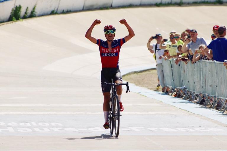Tom Pidcock wins Paris-Roubaix U23 (via Paris Roubaix Espoirs on Twitter)