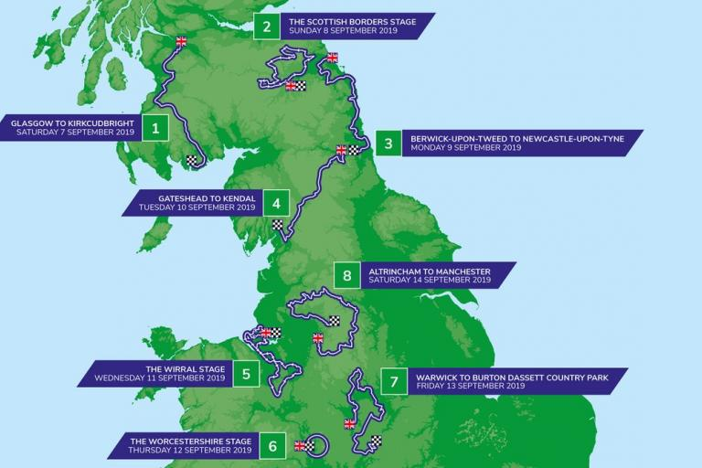 Tour of Britain 2019 route map