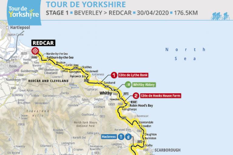 tour de yorkshire 2020 route stage 1 screenshot