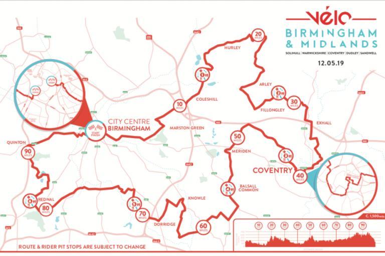 Velo Birmingham route 2019